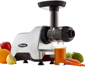 Omega CNC80S Compact Slow Speed Multi-Purpose Nutrition Center Juicer with Quiet Motor Creates Continuous Fresh Healthy Fruit and Vegetable Juice at 80 RPM 200-Watts Silver best juicer for celery 2021