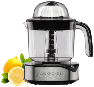Electric Citrus Juicer 1.2 L Large Volume Pulp Control Stainless Steel