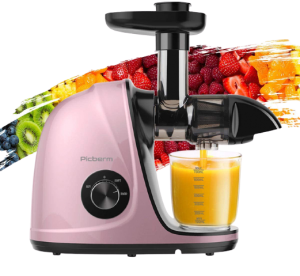 Juicer Machines, Picberm Slow Masticating Juicer Extractor with Quiet Motor Easy to Clean best wheatgrass juicers 2021